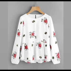 Floral embellished top